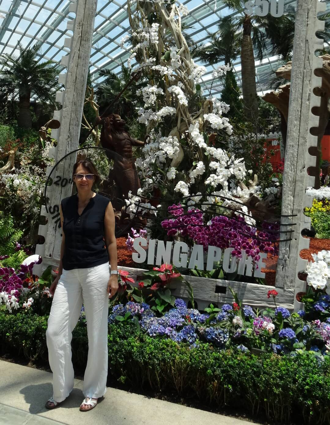 Blumenpracht im Flower Dome